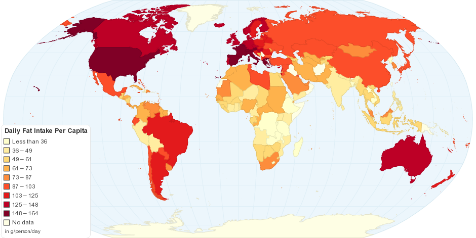 Daily Fat Intake Per Capita