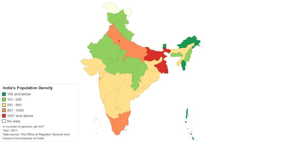 India's Population Density