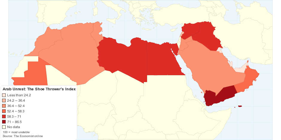 Arab Unrest: The Shoe Thrower's Index