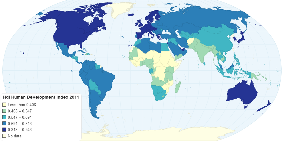 Hdi Human Development Index 2011