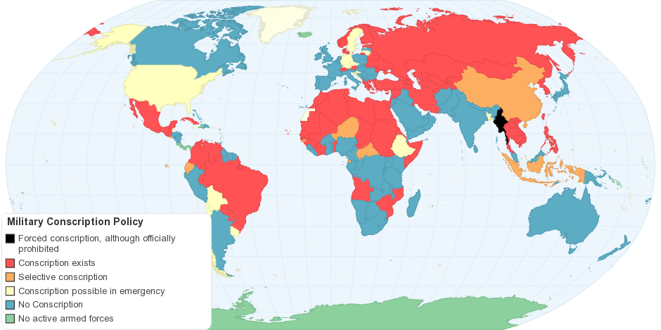Military Conscription Policy by Country