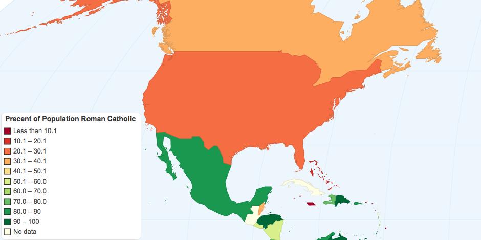 Precent of Population Roman Catholic