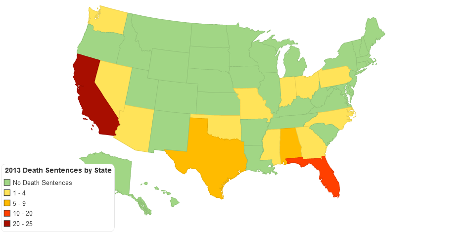 2013 Death Sentences by State