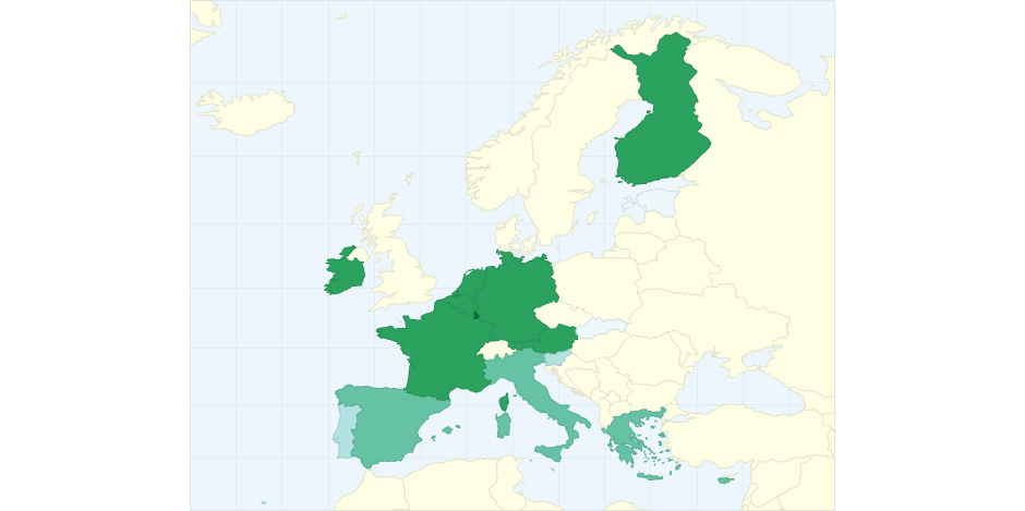 Eurozone Countries Per Capita Gdp