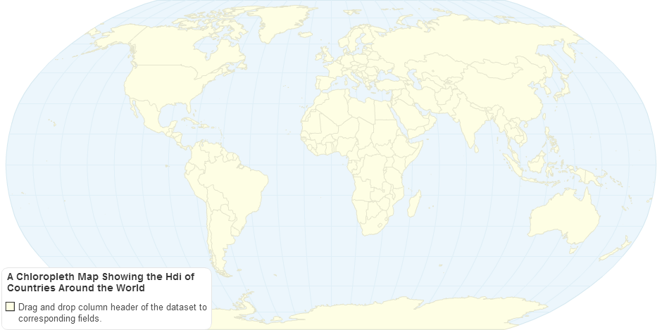 A Chloropleth Map Showing the Hdi of Countries Around the World