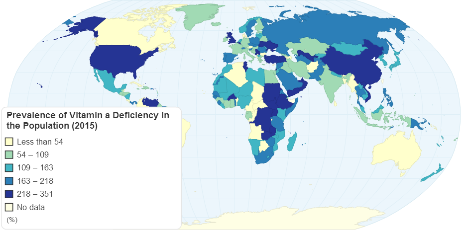 Prevalence of Vitamin A Deficiency in the Population (2015)