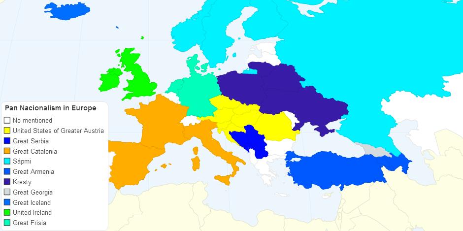 Irredentism in Europe Part 3 (world map version)