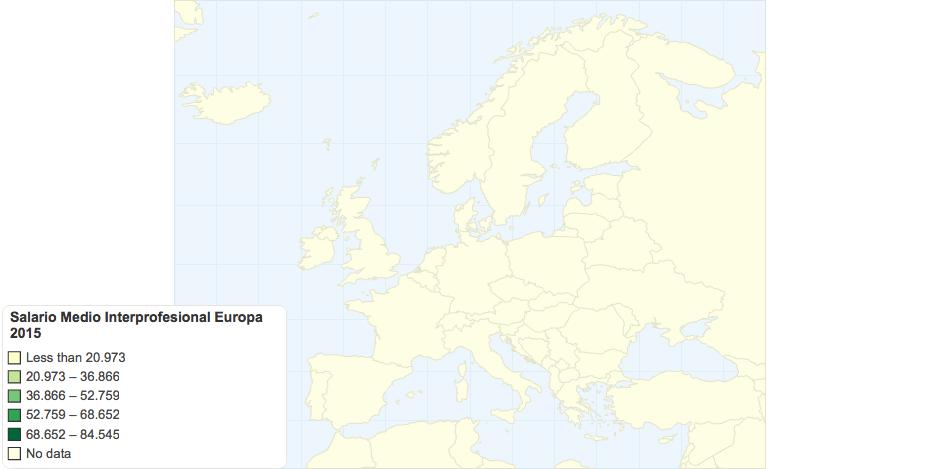 Salario Medio Interprofesional Europa 2015