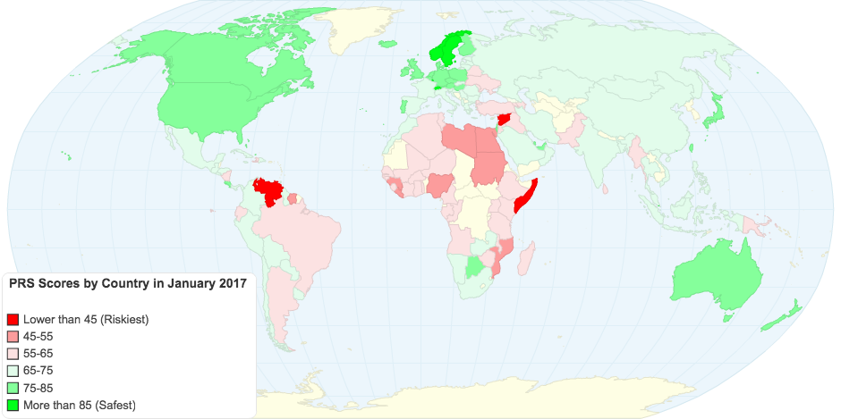 PRS Scores by Country in January 2017