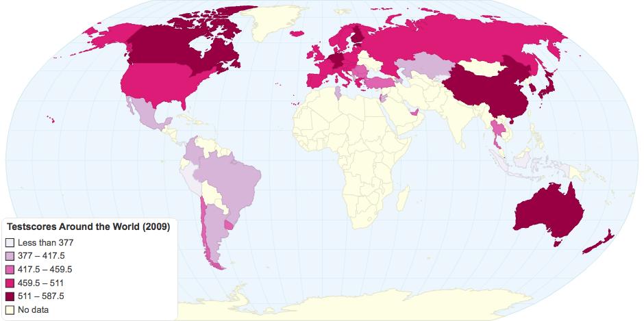 Testscores Around the World (2009)