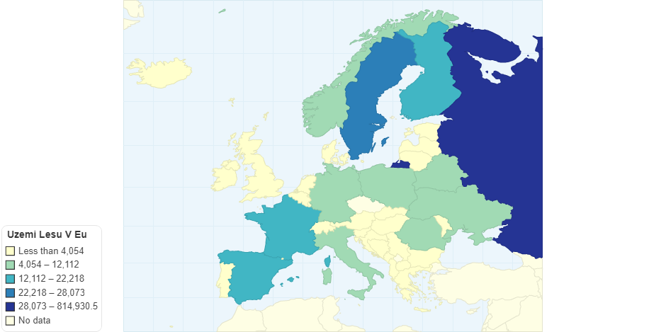 Uzemi lesu v evropskych statech