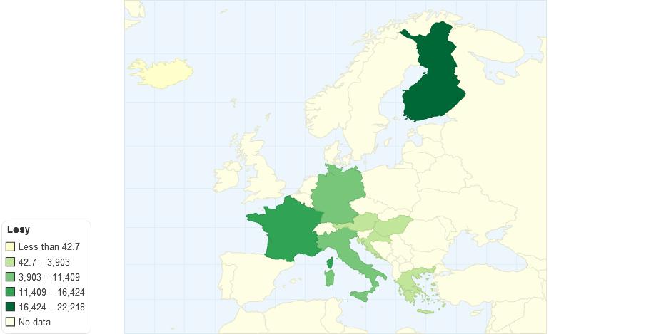 Lesy v Evropě
