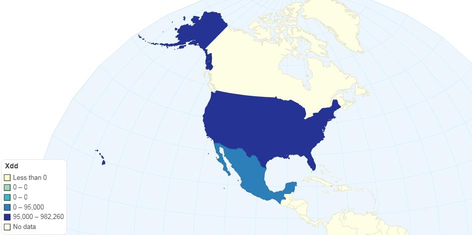 Hnědé uhlí v USA a Mexicu v roce 2016