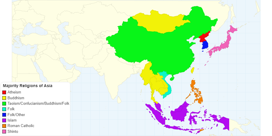 Majority Religions of Asia