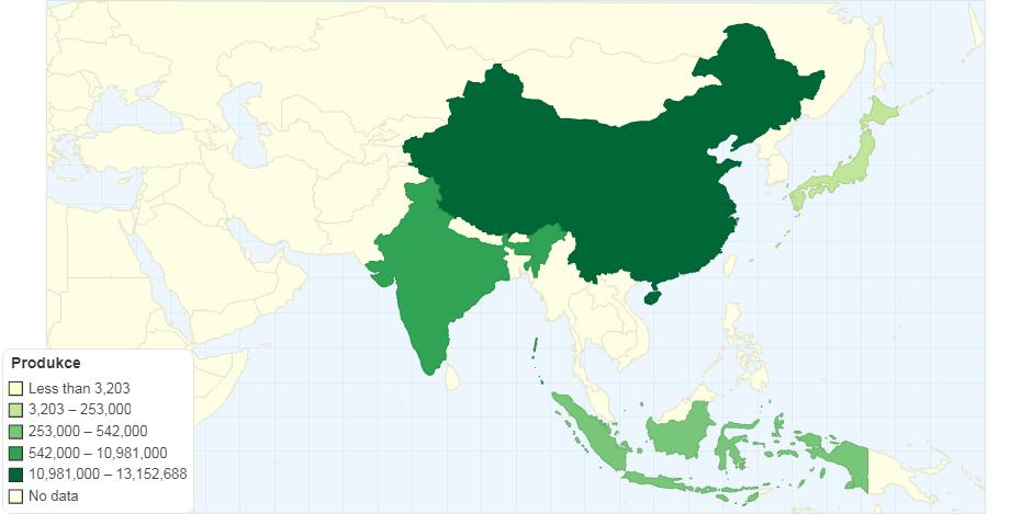Produkce jablek ve světě v roce 2016