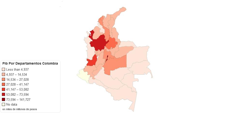 Pib Por Departamentos Colombia