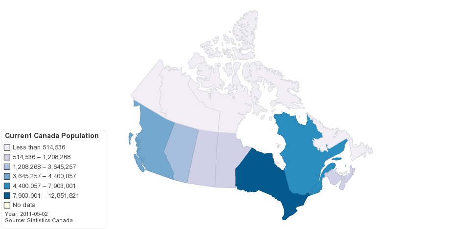 Current Canada Population