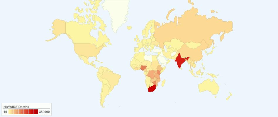 Current World HIV/AIDS Deaths
