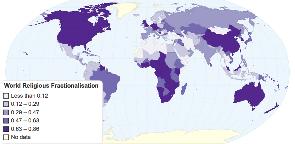 World Religious Fractionalisation
