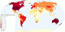 Current Worldwide Annual Meat Consumption per capita