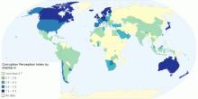 Corruption Perception Index by Gabriel H
