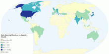EMB Society Member by Country Count