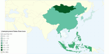 Unemployment Rates East Asia