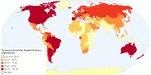 Consumo Anual Per Capita De Carne (2014, kg/hab/año)